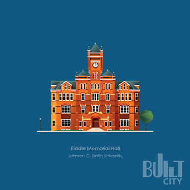 Original Illustration of Biddle Memorial Hall