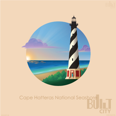 Original Illustration of Cape Hatteras Lighthouse