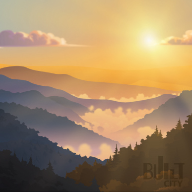Original Illustration of Great Smoky Mountains